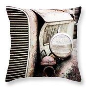 Old Farm Ford Throw Pillow