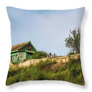 Old Fisherman's House On The Hill Throw Pillow