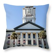 Old Florida Capitol Throw Pillow