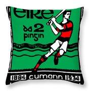 old Irish postage stamp Throw Pillow