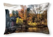 Old Mill Boards Throw Pillow