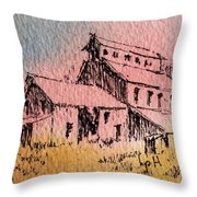 Old Mill Cable Ghost Town Montana_ Throw Pillow
