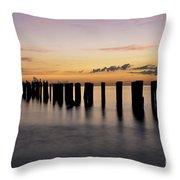 Old Naples Pier Throw Pillow