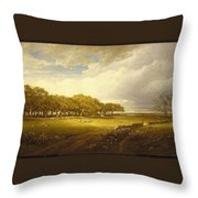 Old Orchard At Newport Throw Pillow