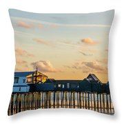 Old Orchard Beach Maine  Throw Pillow
