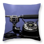Old Phone Throw Pillow