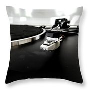 Old Record Player Throw Pillow