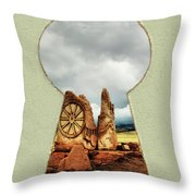 Old Spanish Trail Marker Throw Pillow