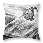 Old Technology Throw Pillow