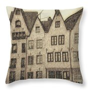 Old Town Of Cologne Throw Pillow