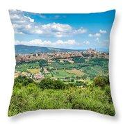 Old Town Of Orvieto, Umbria, Italy Throw Pillow