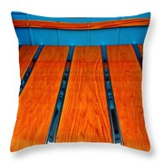Old Truck Bed Throw Pillow
