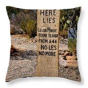 Old Tucson Graveyard Throw Pillow