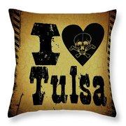 Old Tulsa Throw Pillow