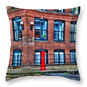 Old World Brooklyn Throw Pillow