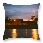 Old Yet Colorful Throw Pillow