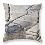 Olmstead Rock And Cracks 2 Throw Pillow