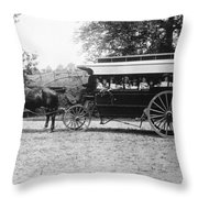 Omnibus, C1899 Throw Pillow