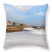 On A Beach Throw Pillow