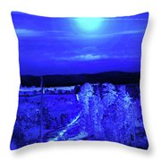 On A Cold Cold Night Throw Pillow
