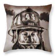 On Duty And Into Fire Throw Pillow