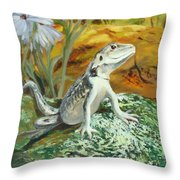 On Insect Patrol Throw Pillow