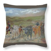 On The Chisholm Trail Throw Pillow