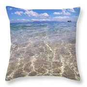 On The Horizon Throw Pillow by Debbie Cundy