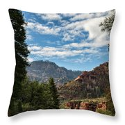 On The Road To Red Rocks  Throw Pillow