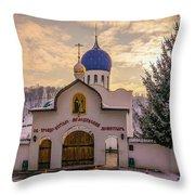 One Monastery Throw Pillow