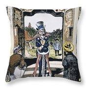 Open Door Cartoon, 1900 Throw Pillow