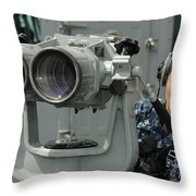 Operations Specialist Looks Throw Pillow