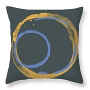 Orange And Blue 2 Throw Pillow