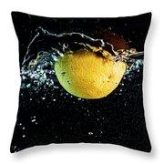 Orange Splashing In Water Throw Pillow