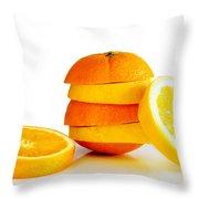 Oranje Lemon Throw Pillow