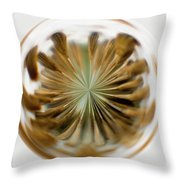 Orb Image Of A Dandelion Throw Pillow