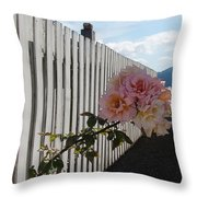 Orcas Island Rose Throw Pillow