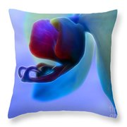 Orchid Jewel Throw Pillow
