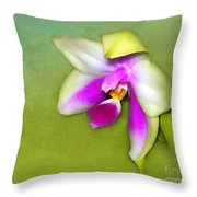 Shy Orchid  Throw Pillow