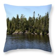 Orphan Lake, Canada Throw Pillow