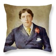 Oscar Wilde, Literary Legend Throw Pillow