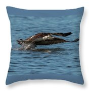 Osprey Fishing Throw Pillow