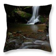 Otter Falls - Seven Devils, North Carolina Throw Pillow