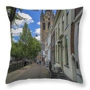 Oude Kerk In Delft Throw Pillow