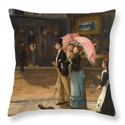 Our Good Natured Cousin Throw Pillow