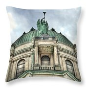 Our Lady Of Victory Angel Throw Pillow