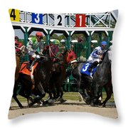 Out Of The Gate Throw Pillow