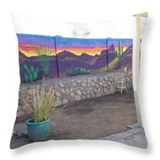Outside Mural Throw Pillow