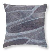 Ovals Pattern Texture Background Throw Pillow