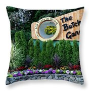 Over 100 Yrs In Bloom, Historic Garden Icon, The Butchart Gardens. Throw Pillow